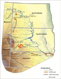 Great Plains Map Major Rivers And Tributaries In Northern Great Plains Network