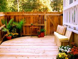 Landscape Ideas For Backyard by Small Deck Design Ideas Diy