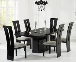 Black Gloss Dining Room Furniture Dining Table Black Gloss Dining Table 6 Chairs Black Dining