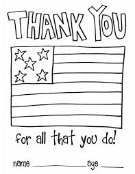 children thank you color page soldiers and as a thank you for