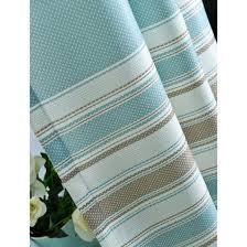 horizontal striped print poly cotton blend color block curtains