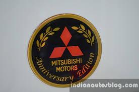 logo mitsubishi mitsubishi pajero sport anniversary edition logo indian autos blog