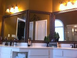 framed bathroom mirror ideas triple bathroom mirror framed with blackwater frame style frame
