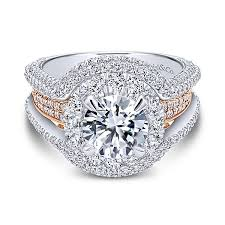 luxury engagement rings luxury 18k white and gold halo engagement ring