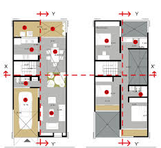 House Plan Layout Small Affordable House With Three Materials Construction Idea