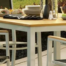 Stackable Outdoor Dining Chairs Outdoor Stackable Chairs Travira Piece Aluminum Patio Dining Set W