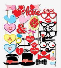 photo booth party props 32pcs valentines day supplies decoration photo booth party props