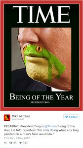somebody noticed donald trump u0027s chin looks like a frog and now
