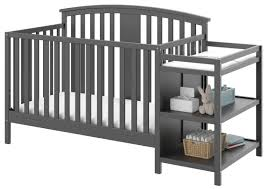 Convertible Crib And Changer Combo Storkcraft Greyson 3 In 1 Convertible Crib And Changer Combo