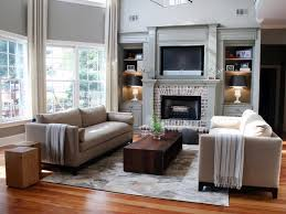 long narrow living room with fireplace in center 20 mantel and bookshelf decorating tips hgtv
