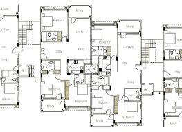 20 multi family house plans narrow small lot duplex house