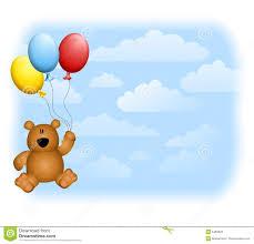 teddy balloons teddy balloons sky stock photos image 5460023