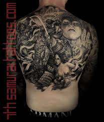 Back Pieces Tattoos Guan Yu X Geisha Buddha Lotus Samurai Monkey King S