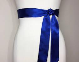 cobalt blue sash etsy
