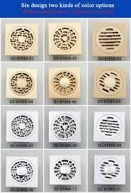 10 10cm modern brass grille shape bathroom floor waste grate