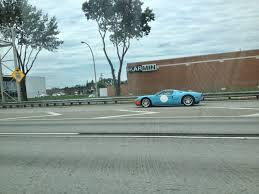 gulf gt40 spotted gulf racing ford gt40 on highway