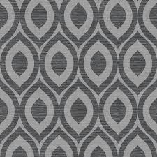 crown rimini geometric wallpaper black silver m1161 wallpaper