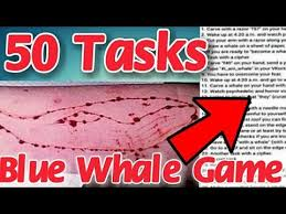 Challenge What Is It The Blue Whale Challenge 50 Task Of The Blue Whale