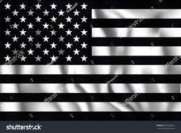 Black And White Us Flag Black White American Flag Rectangular Shaped Stock Vector
