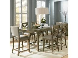 standard furniture omaha grey counter height 7 piece dining room