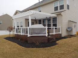 Build A Pergola On A Deck by Deck With Pergolas Deck Pergolas In Lancaster U0026 Chester County