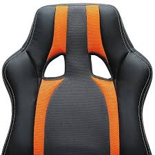 fauteuil siege baquet chaise de bureau sport fauteuil siege baquet grise orange