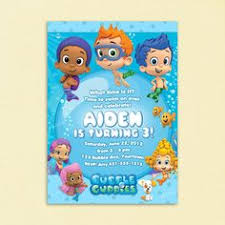 bubble guppies invitation template printables pinterest