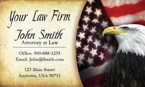 Business Cards Attorney Eagle And American Flag Attorney Business Cards Design 401171