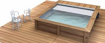 piscine hors sol bois urbaine carré moins de 10m2 piscine en ligne