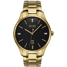 gold bracelet mens watches images Hugo boss men 39 s governor gold pvd bracelet watch watches from jpg