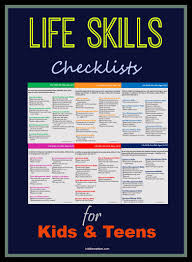 Interpersonal Skills List Resume Life Skills Checklists For Kids And Teens Life Skills Learning