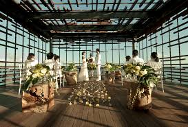 alila villa uluwatu wedding cliff edge cabana bali wedding
