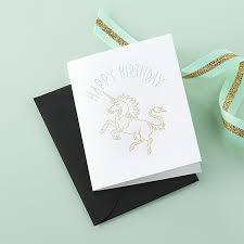 unicorn birthday card cb2