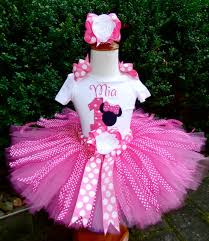 1st birthday tutu hot pink minnie mouse personalized ribbon 1st 2nd 3rd birthday