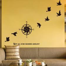 popular compass wall decor buy cheap compass wall decor lots from compass birds wall decor living room wall stickers removable home decor decal decorative vinyl bedroom decals