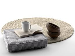 bowls seat pillow book cup and rug 3d cgtrader