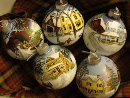 country crafts painted glass ornaments