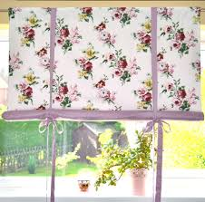 made to measure shabby chic swedish hand roll up blind in roses