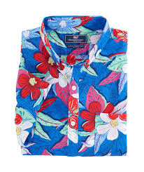 Halloween Hawaiian Shirt by Shop Short Sleeve Beach Floral Slim Murray Shirt At Vineyard Vines
