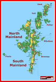 Stirling Scotland Map Of Shetland Islands Province