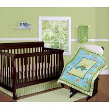 step by step elephant crib bedding 3 piece set green walmart com
