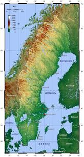 Topographical Map Of South America by Map Of Sweden Topographic Map Worldofmaps Net Online Maps