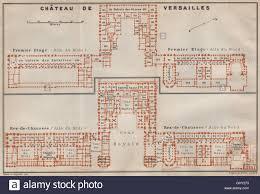 chateau floor plans château de versailles premier etage u0026 rez de chaussée floor plans