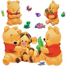 canapé winnie l ourson dessins animés animaux winnie l ourson vinyle stickers muraux pour