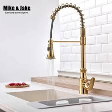 gold kitchen faucet single handle gold kitchen faucet pull kitchen mixer with