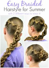 easy braided hairstyle for summer in hairland