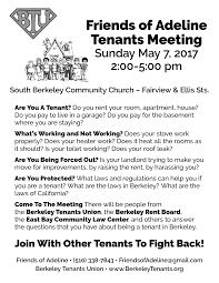 berkeley tenants rights berkeley tenants union