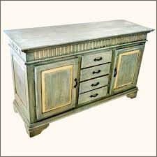 Credenzas And Buffets by Oklahoma Farmhouse Hand Painted Sideboard Buffet With Wrought Iron