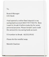 ideas of how to write a letter bank manager for new debit card on