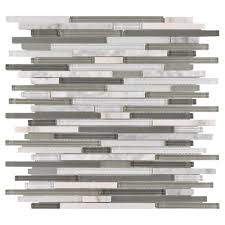 carisma carrara ii stick glass mosaic 12in x 12in 100155340